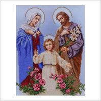 """Ткань с печатью для вышивки бисером иконы ''Святое семейство"""""""