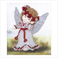 """Ткань с печатью для вышивки бисером """"Ангел в вышиванке"""""""