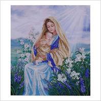 """Ткань с печатью для вышивки бисером ''Мадонна с лилиями"""""""