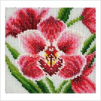 """Ткань с печатью для вышивки бисером ''Орхидея"""""""