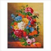 """Ткань с печатью для вышивки бисером ''Осенние цветы"""""""