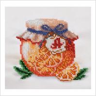 """Ткань с печатью для вышивки бисером ''Апельсиновый джем"""""""