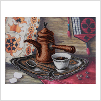"""Ткань с печатью для вышивки бисером ''Вкус кофе"""""""