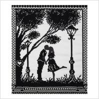 """Ткань с печатью для вышивки бисером """"Романтическая встреча"""""""