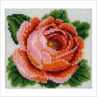 """Ткань с печатью для вышивки бисером ''Роза"""""""