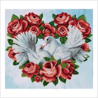 """Ткань с печатью для вышивки бисером ''Вечная любовь"""""""