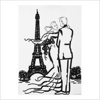 """Ткань с печатью для вышивки бисером """"Встреча в Париже"""""""