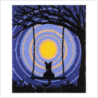 """Ткань с печатью для вышивки бисером ''Звездная ночь"""""""