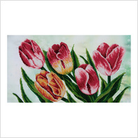 """Ткань с печатью для вышивки бисером """"Весенние тюльпаны"""""""