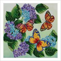 """Ткань с печатью для вышивки бисером """"Бабочки"""""""