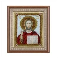 """Ткань с печатью для вышивки бисером ''Иисус Христос"""""""