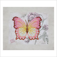 """Ткань с печатью для вышивки бисером ''Бабочка"""""""