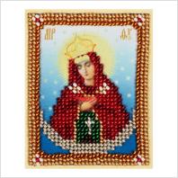 """Ткань с печатью для вышивки бисером ''Богородица """"Остробрамская"""""""