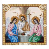 """Ткань с печатью для вышивки бисером ''Святая Троица"""""""
