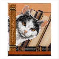 """Ткань с печатью для вышивки бисером """"Котик Мицик"""""""