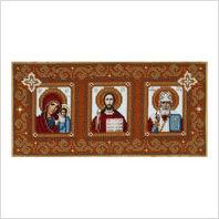 Ткань с печатью для вышивки бисером иконы