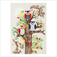 """Ткань с печатью для вышивки мулине ''Магическое дерево"""""""