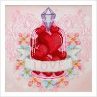"""Ткань с печатью для вышивки бисером """"Любовь"""""""