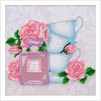 Ткань с печатью для вышивки бисером и бусинами