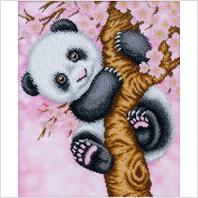 """Схема для вышивки бисером """"Панда"""""""