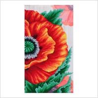 """Ткань с печатью для вышивки бисером """"Багряное цветение"""""""