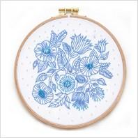 """Ткань с печатью для вышивки мулине и бисером на пяльцах ''Цветы"""""""