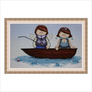 """Вышитая бисером картина """"Ловись, рыбка"""""""