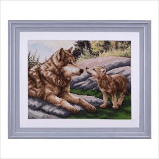 """Вышитая бисером картина """"Волчонок"""""""