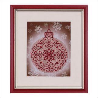 """Вышитая бисером картина """"Новогоднее украшение"""""""