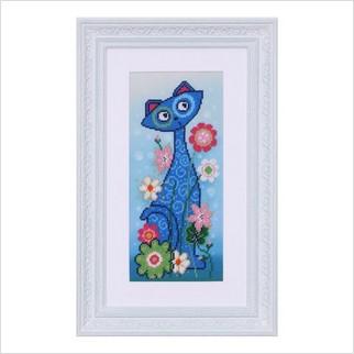 """Вышитая бисером картина """"Кошка"""""""
