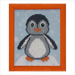 """Вышитая бисером картина """"Пингвинчик"""""""