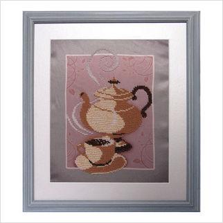 """Вышитая бисером картина """"Аромат кофе"""""""