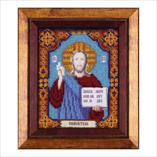 """Вышитая бисером икона """"Иисус Христос"""""""