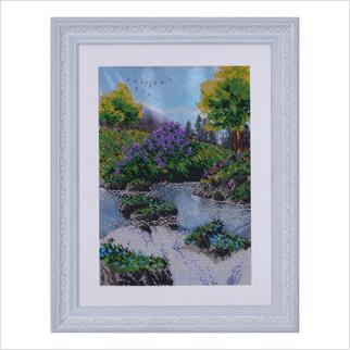 """Вышитая бисером картина """"Весенний водопад"""""""