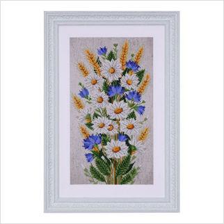 """Вышитая бисером картина """"Полевые цветы"""""""