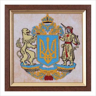 """Вышитая бисером картина """"Герб Украины"""""""