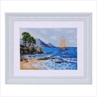"""Вышитая бисером картина """"Морской пейзаж"""""""