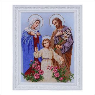 """Вышитая бисером икона """"Святое семейство"""""""