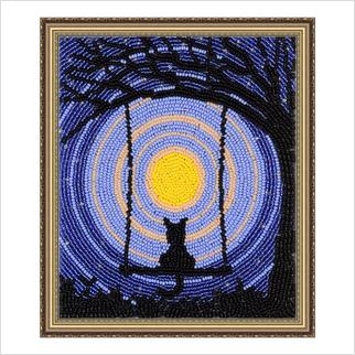 """Вышитая бисером картина """"Звездная ночь"""" (без багета)"""