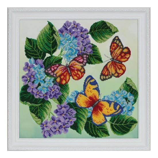 """Вышитая бисером картина """"Бабочки"""""""