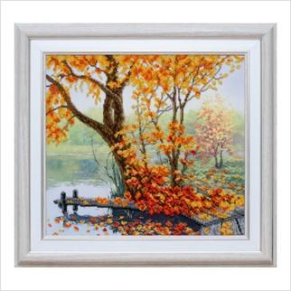 """Вышитая бисером картина """"Осенний уют"""""""