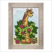 "Вышитая бисером картина ""Жираф"""