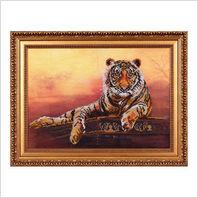"Вышитая бисером картина ""Тигр"""