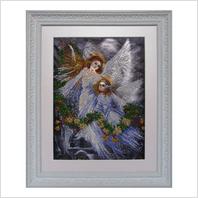 """Вышитая бисером картина """"Рождественские ангелы"""""""