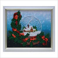 """Вышитая бисером картина """"Рождественский шар"""""""