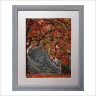 """Вышитая бисером картина """"Осенняя лестница"""""""