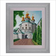 """Вышитая бисером картина """"Церковь всех святых"""""""