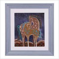 """Вышитая бисером картина """"Сказочные лошади"""""""