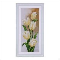 """Вышитая бисером картина """"Белые тюльпаны"""""""