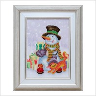 """Вышитая бисером картина """"Подарки к празднику"""""""